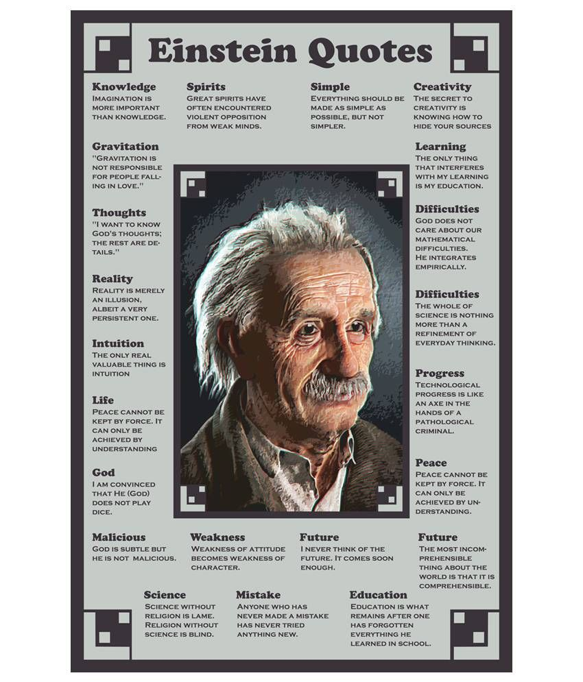 Image result for wisdom of albert einstein poster