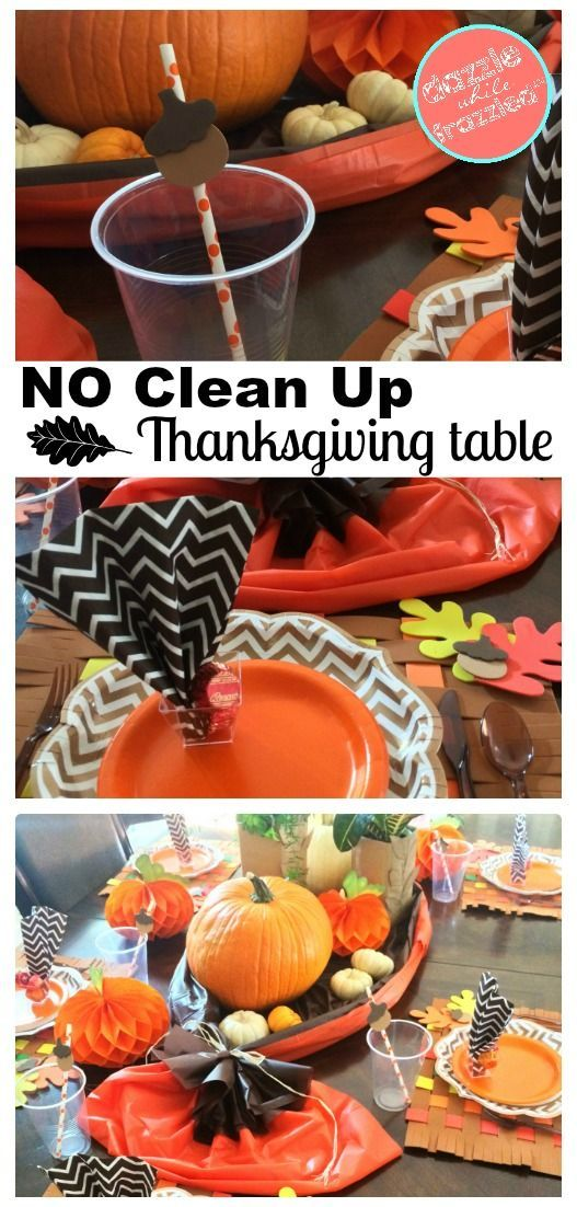 How to set a beautiful Thanksgiving table with disposable dishware. Use paper plates napkins & Make an Easy Clean Thanksgiving Table | Thanksgiving table Dinner ...