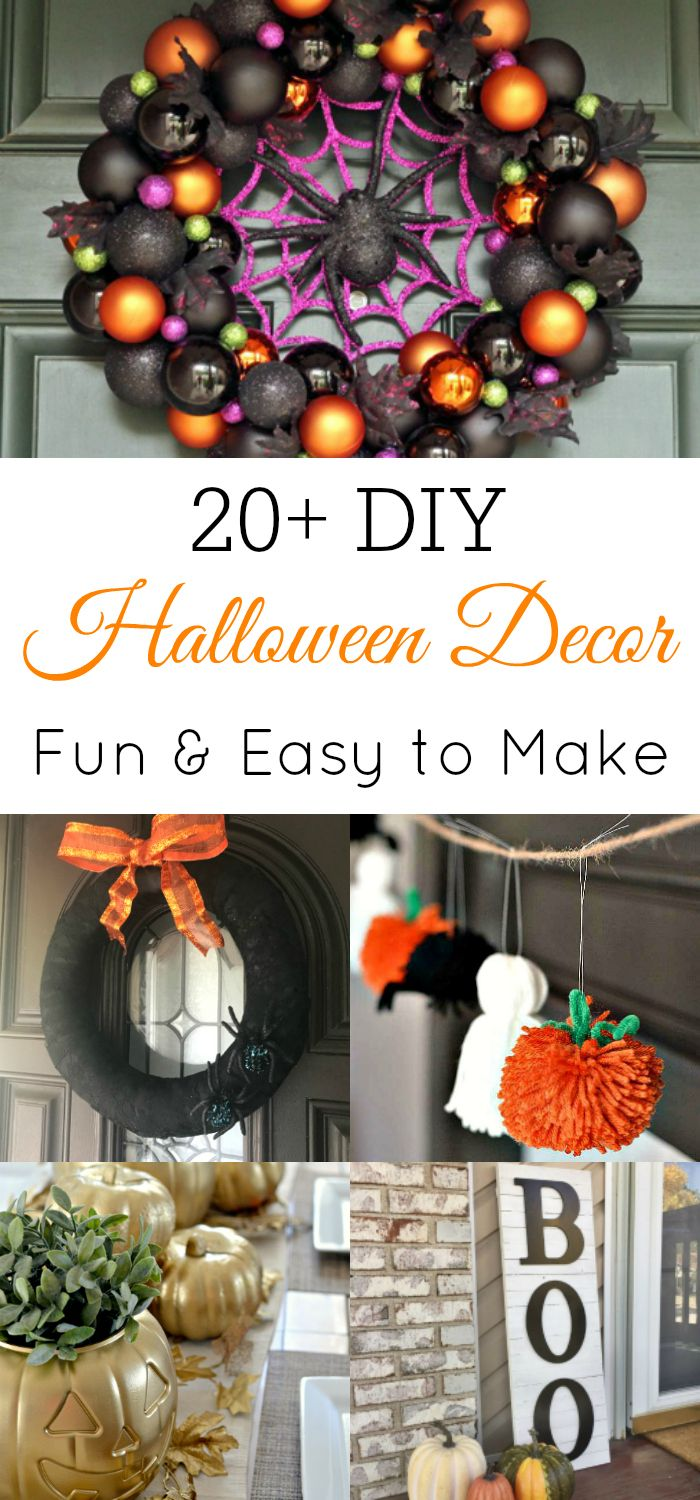 20+ DIY Halloween Decorations DIY Halloween, Craft and Holidays - halloween decorations diy