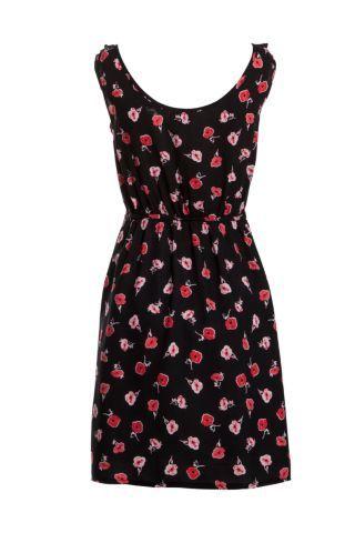 New look apricot black dress