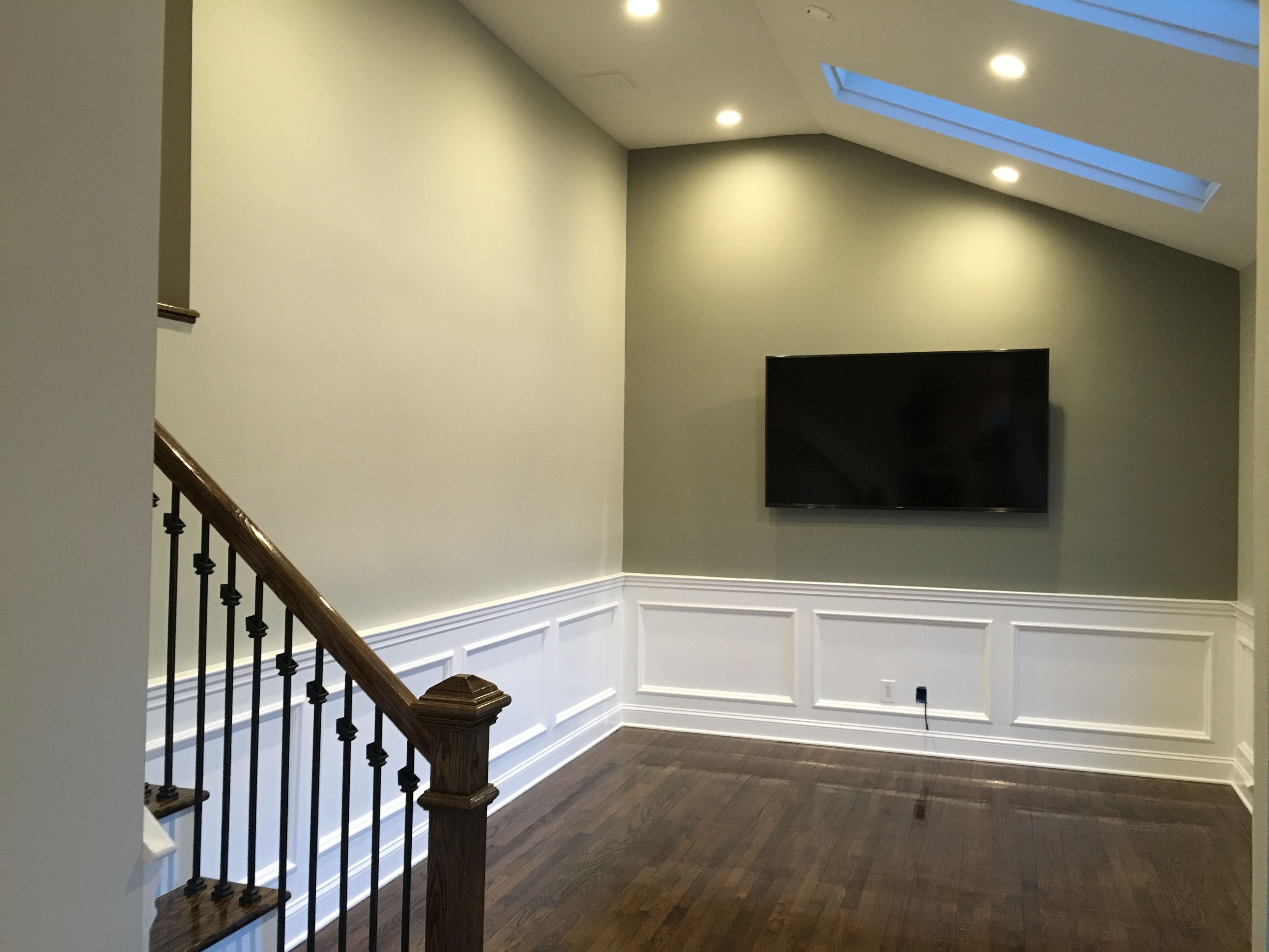 Benjamin Moore (1557) Silver Song; Accent Wall (1559) Arctic Shadows Trim