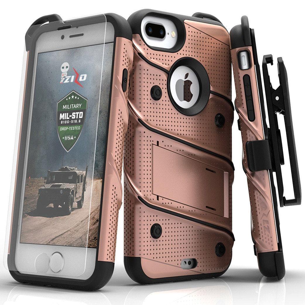 Zizo Bolt Iphone 7 Plus 8 Plus 5 5 In Case Combo Rose Gold