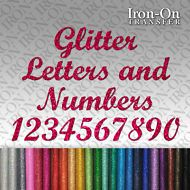 Custom Glitter Names Letters /& Numbers Iron on vinyl T-SHIRT Transfer for fabric