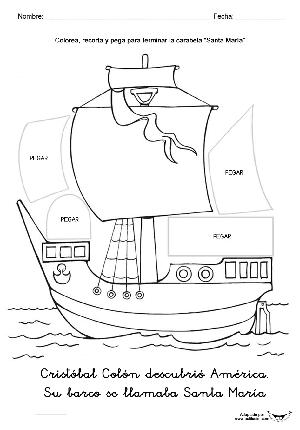 Todorecortables Sueños De Papel Barcos Recortables Barcos Tareas Para Kinder Barco De Carton