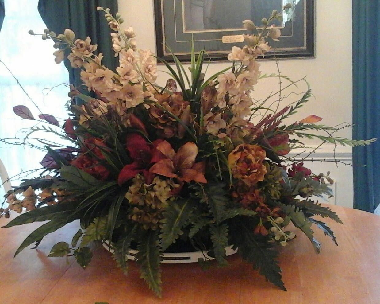 Floral Arrangement Extra Large Table Centerpiece Shipping Included Elegant Luxury Modern Si Table Flower Arrangements Large Floral Arrangements Table Flower