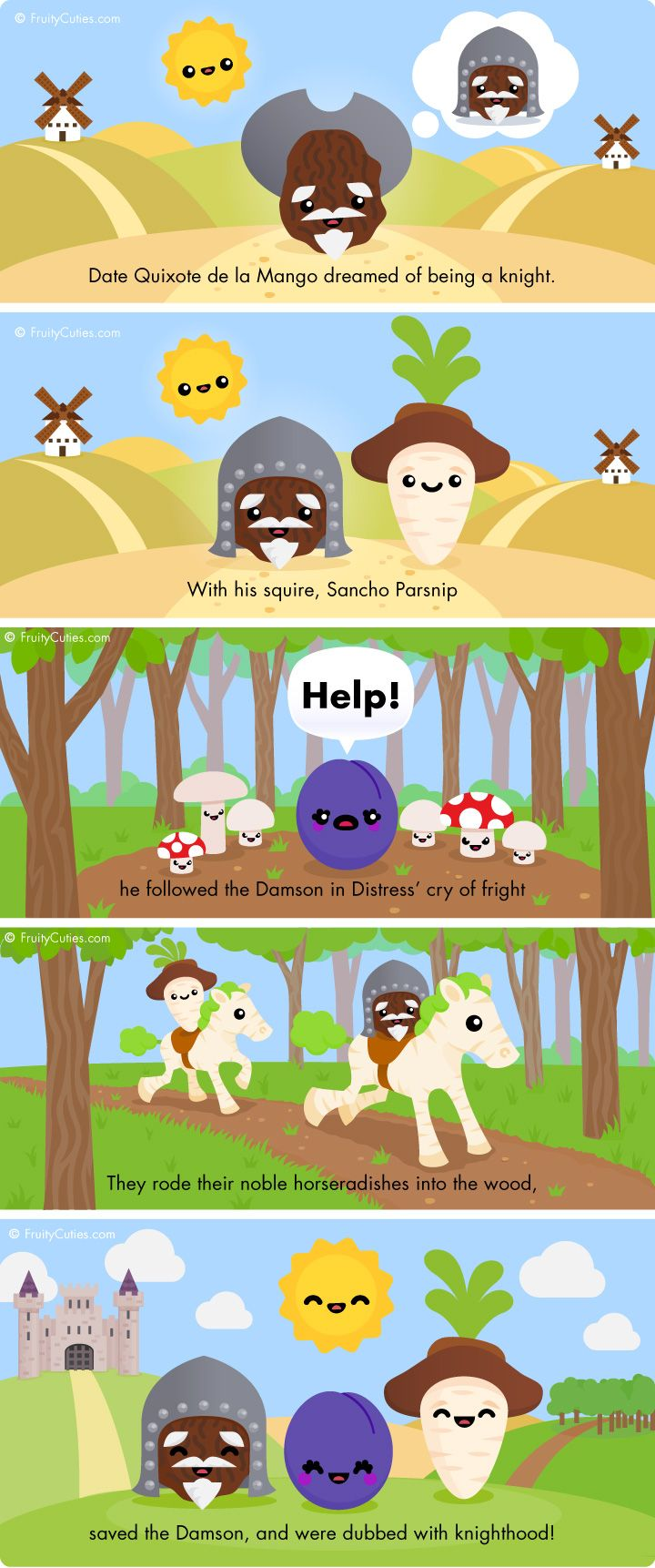 Ok This Website Is Full Of Anthropomorphic Fruits And Vegetables Acting Out Stories And Puns It S