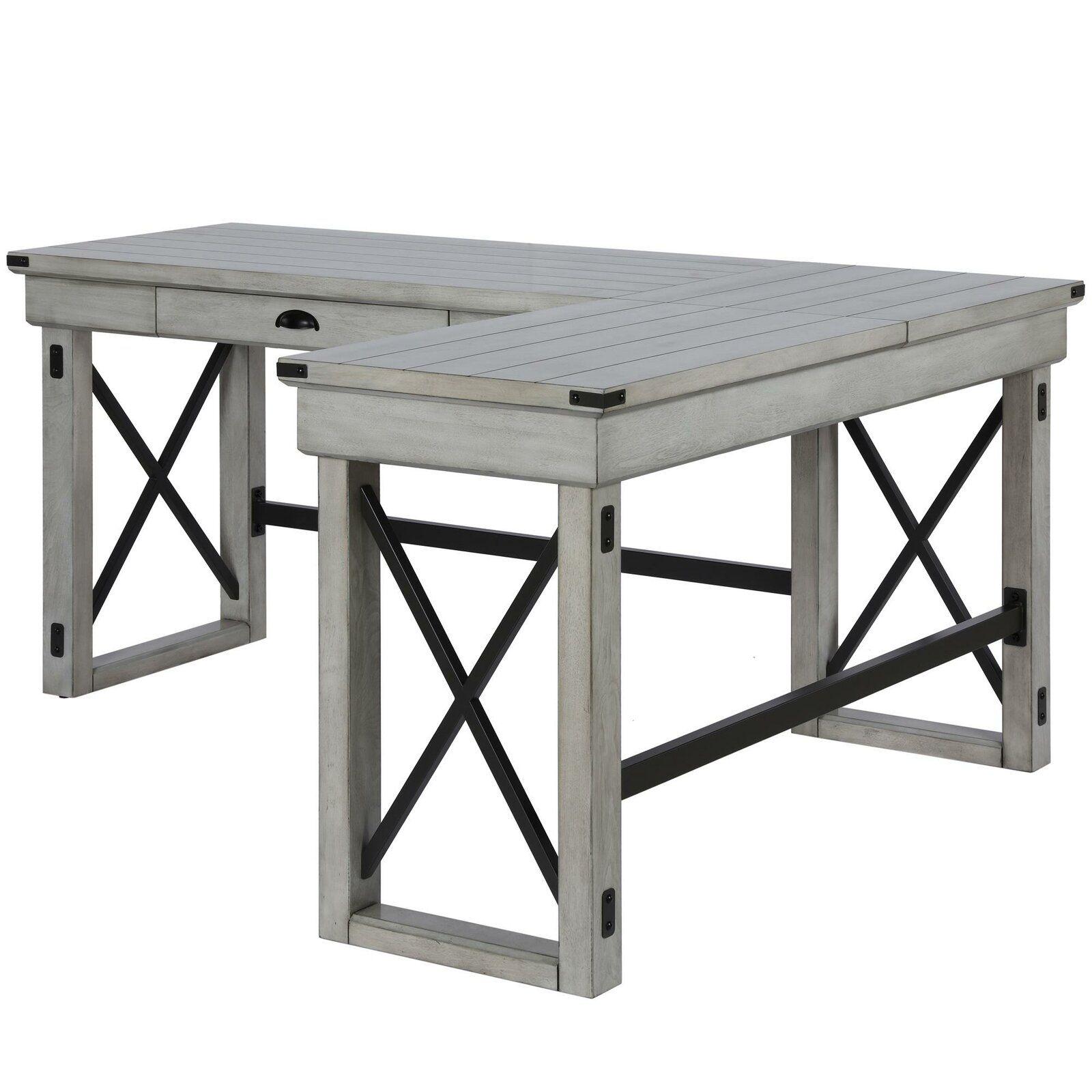 Laurel Foundry Modern Farmhouse Gladstone LShape Desk L