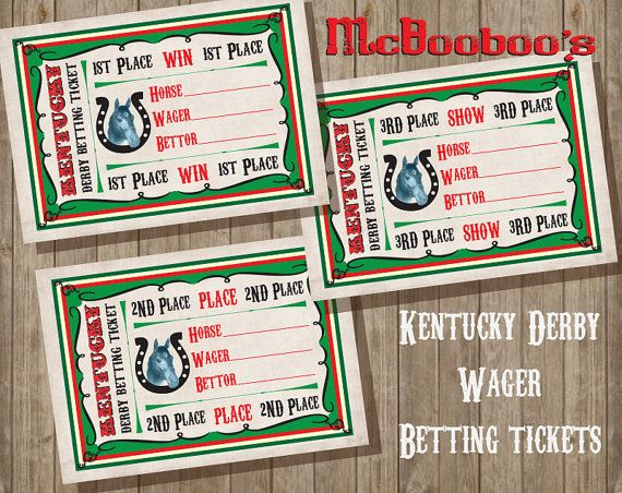 kentucky derby horse betting ticket