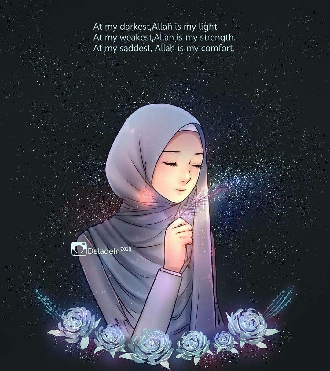 Pin oleh Qummyalishba di Muslimah Kartun, Seni islamis