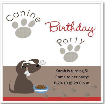 dog party invitations google search - Dog Birthday Party Invitations