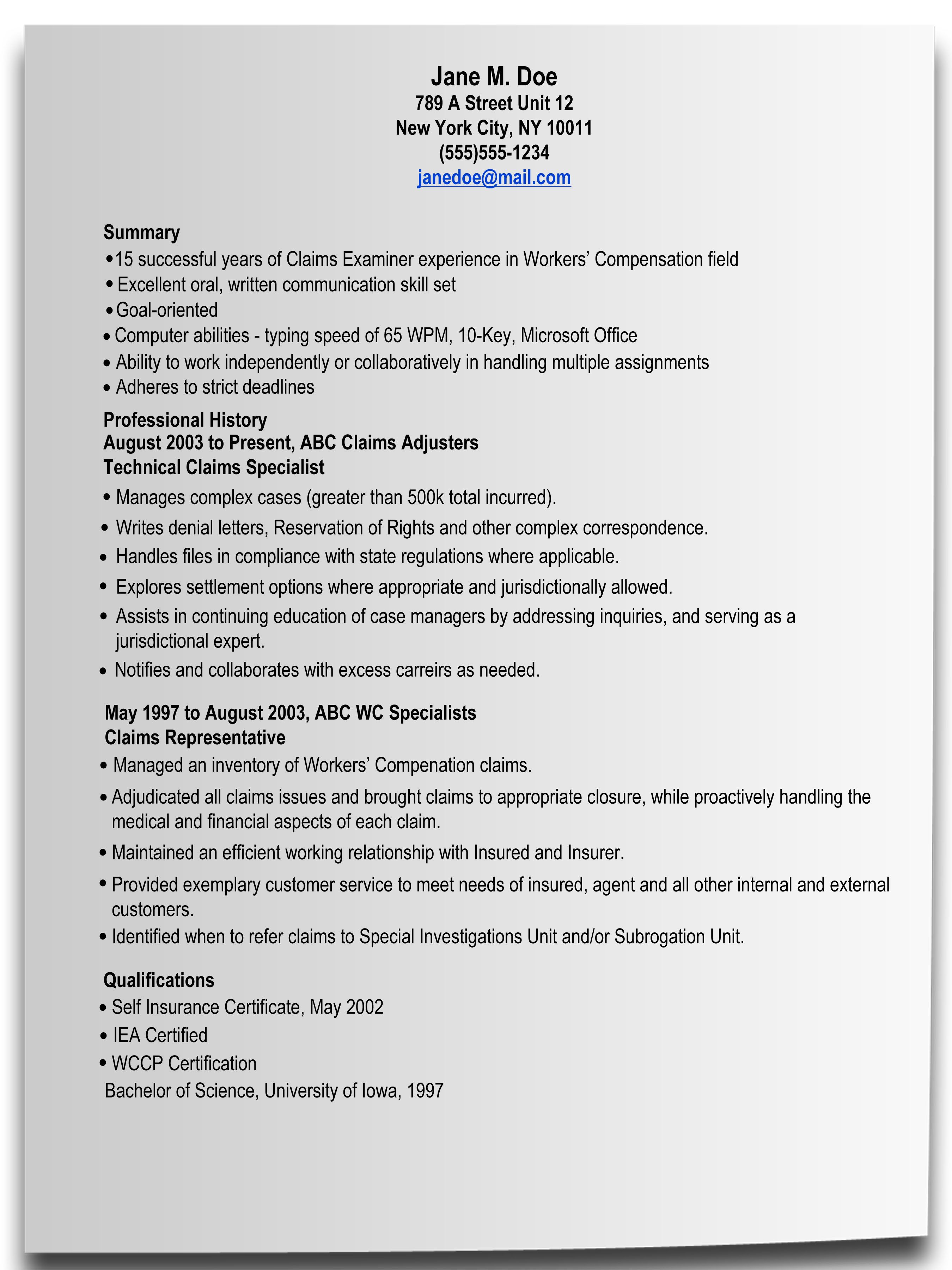 Resume cover letter writing help