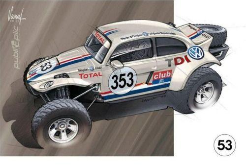 VW Dakar Rally Beetle. How cool is this?