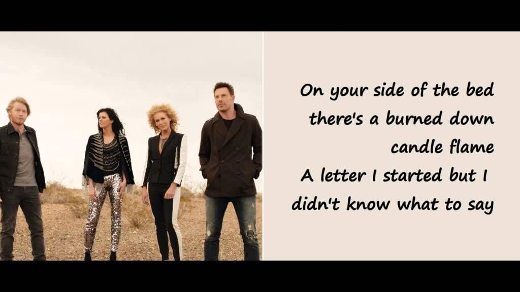 your side of the bed little big town music favs pinterest big town and youtube. Black Bedroom Furniture Sets. Home Design Ideas