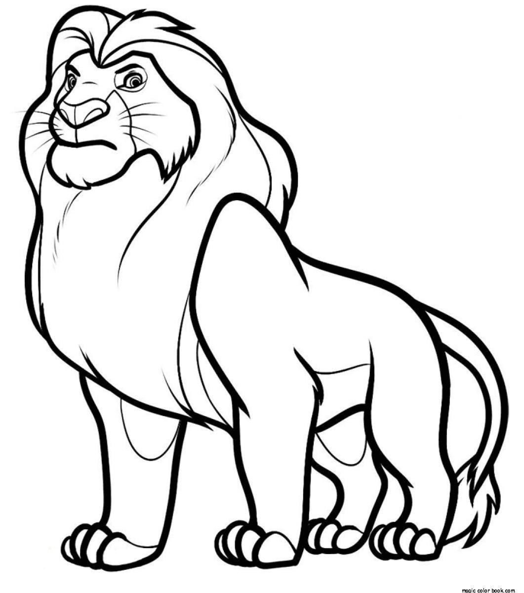 Lion king online coloring pages - Mufasa Disney The Lion King Coloring Pages Online Free