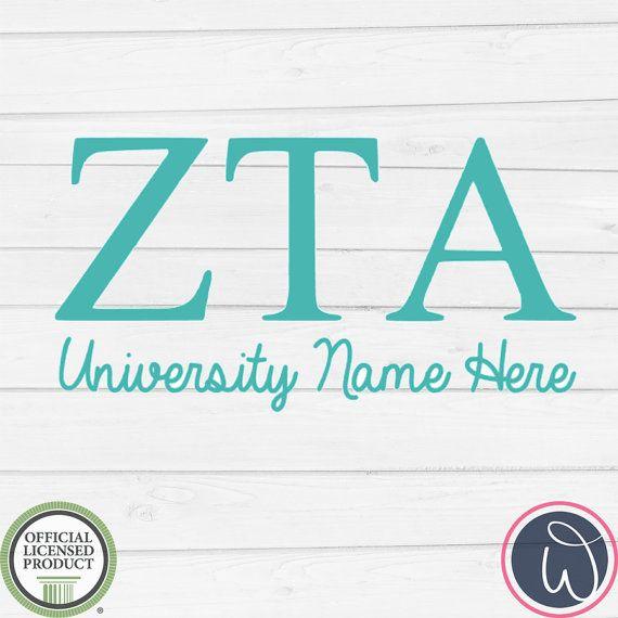 Items similar to zta zeta tau alpha greek letter decal sorority car decal zeta tau alpha decal officially greek licensed zta school decal on