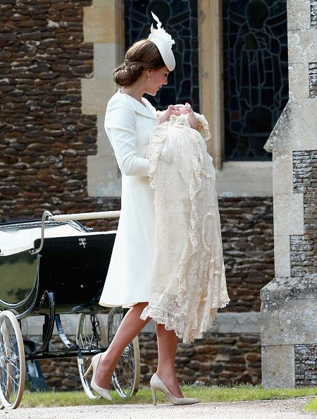 Royal Family Around the World: The Christening Of Princess Charlotte Of Cambridge on July 5, 2015 in King's Lynn, England.