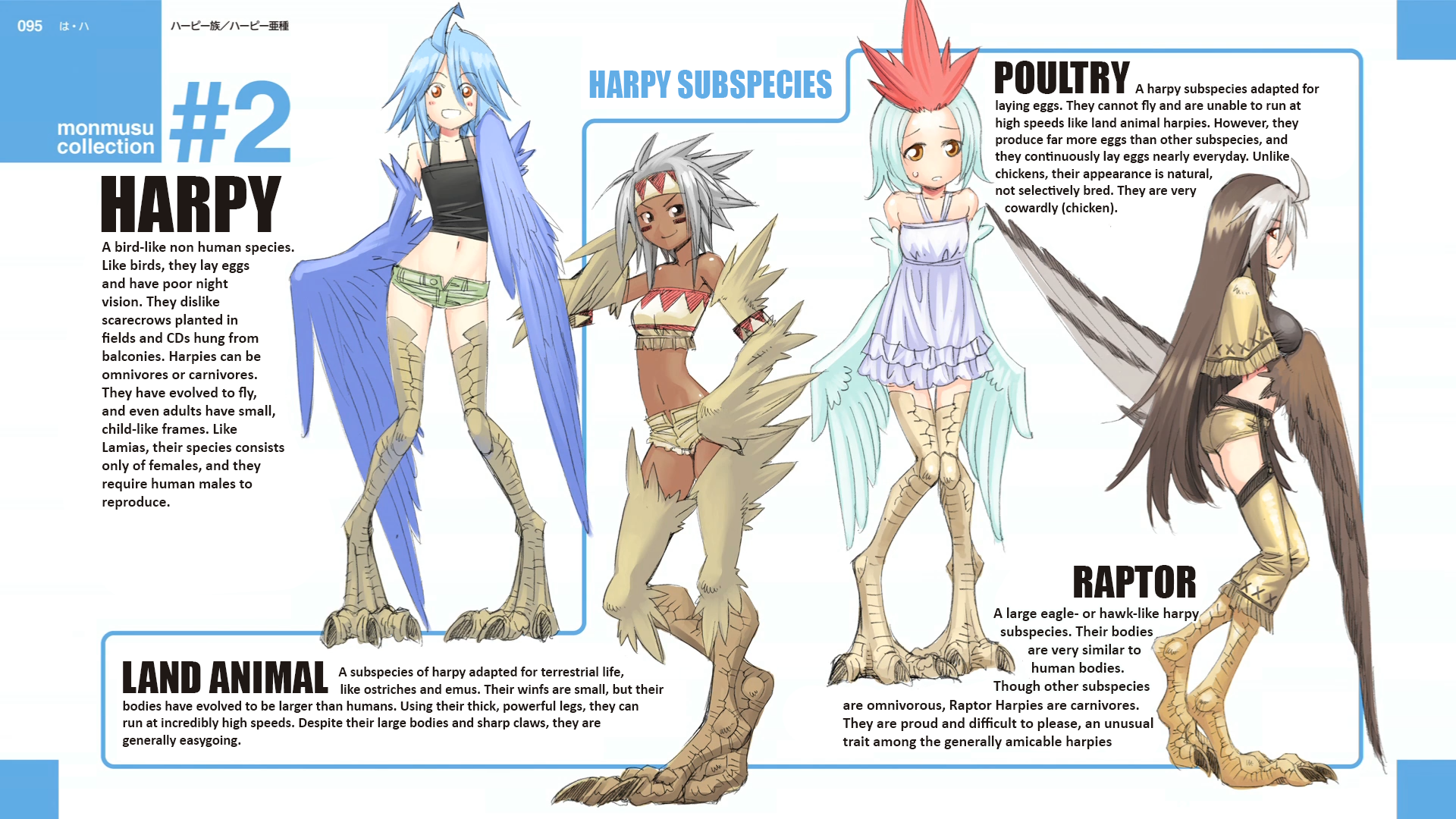 Harpy Subspecies End Card Modified Croquis Manga