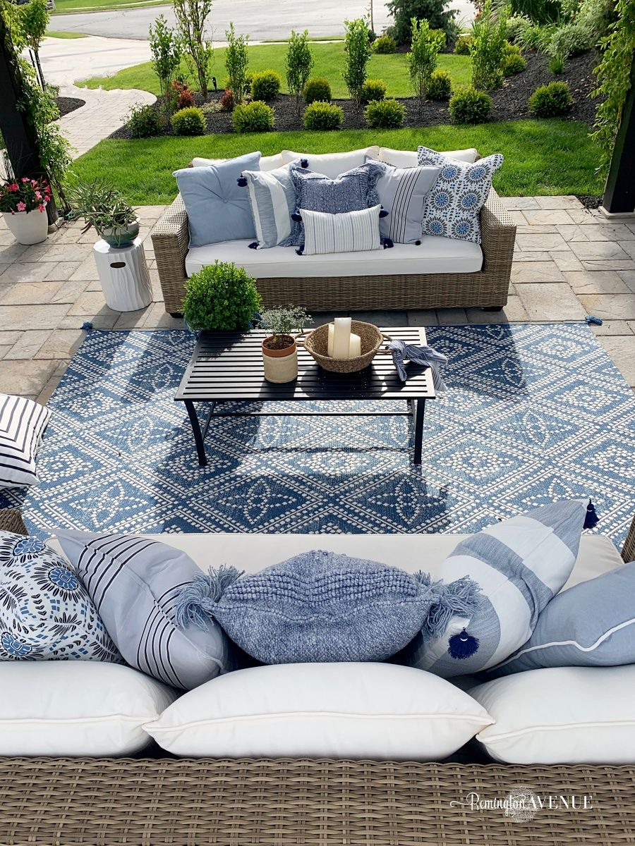 Photo of Loveliest Looks for Summer Tour + Blue French Country Patio – Remington Avenue