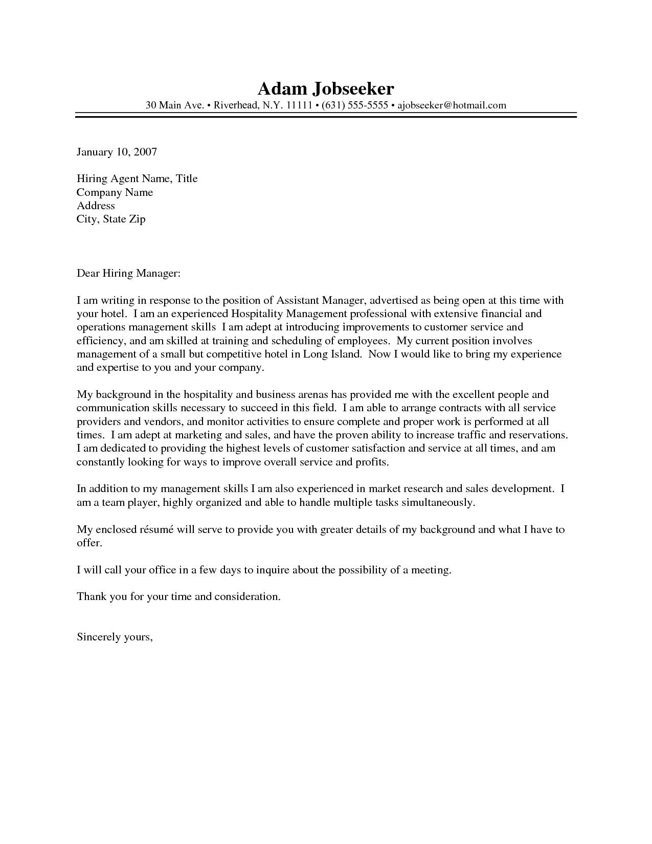 Cover Letter Examples Uk Hotel Www Buzznow Tk Intended For