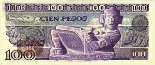 El Chac Mool  Medidas : 156 x 67 mm - impreso del 30 de mayo de 1974 al 25 de marzo de 1982