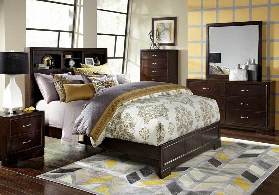 Liam Merlot 5 Pc Queen Bedroom City Living Room Bedroom