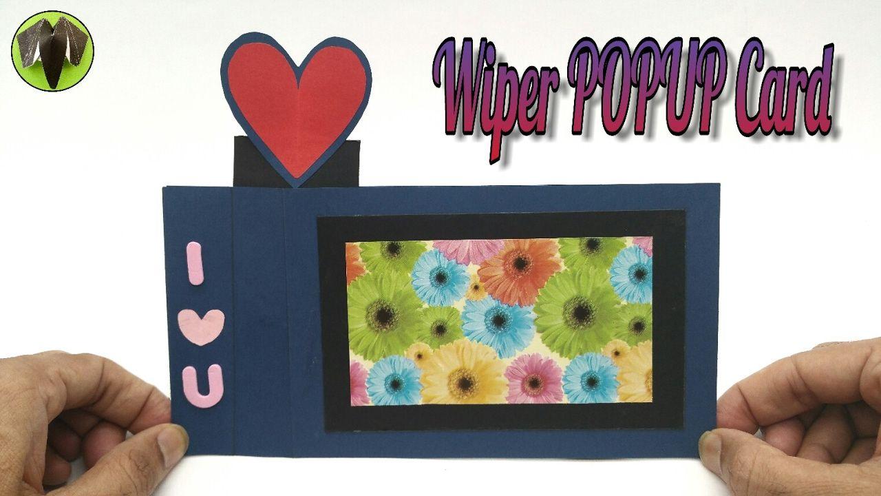 Heart Wiper Popup Card Diy Scrapbook Handmade 753 Handmade Cards Diy Diy Cards Diy Scrapbook