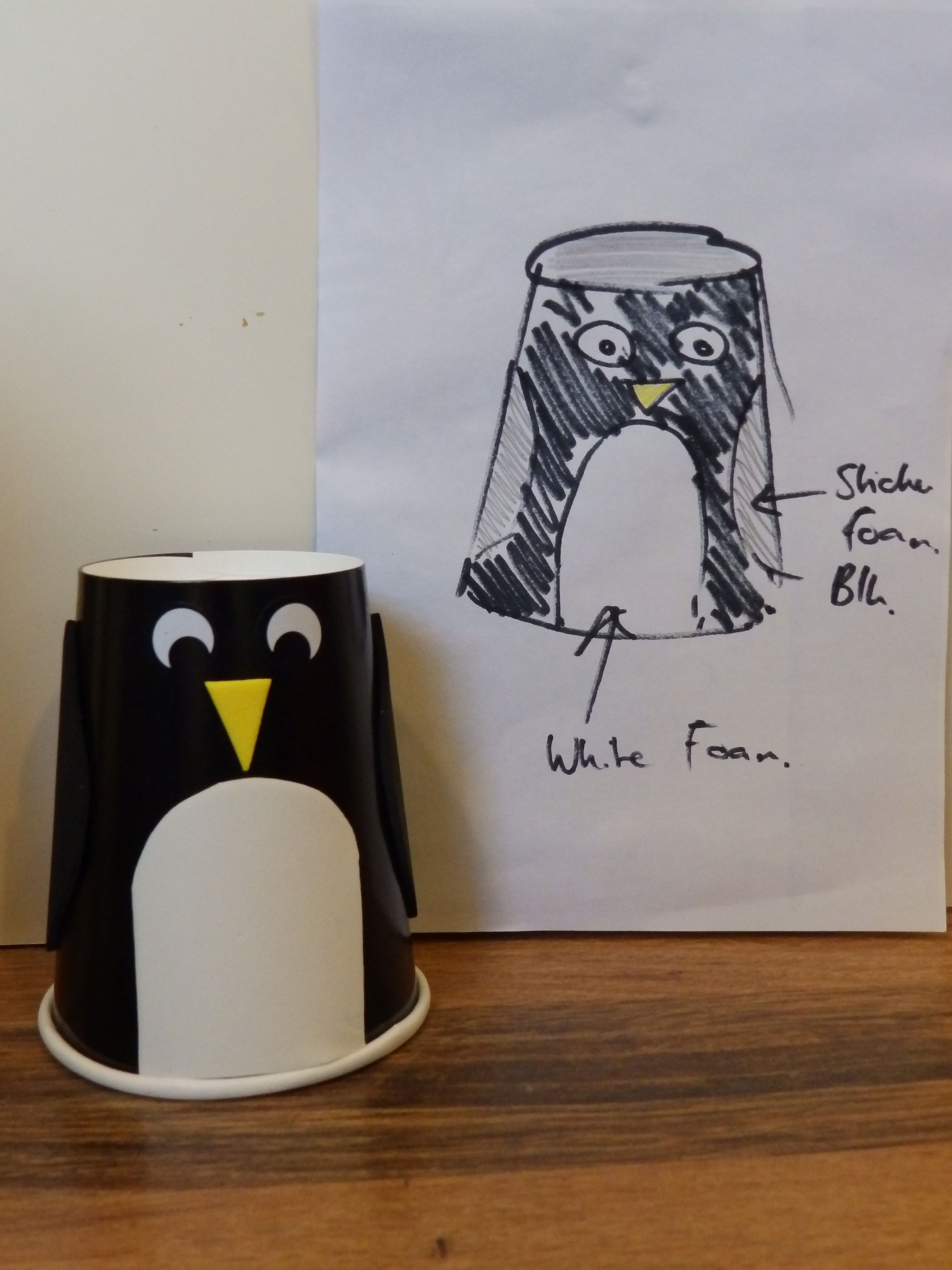 Tried and tested toddler group craft penguin paper cup winter tried and tested toddler group craft penguin paper cup winter craft to make 30 jeuxipadfo Image collections