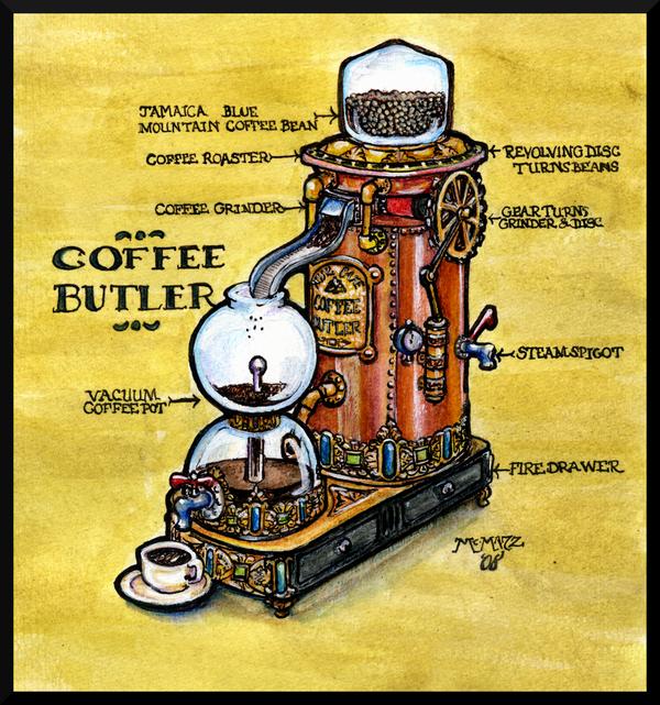 Steampunk Coffee Maker By Mcmatz On Deviantart Coffee
