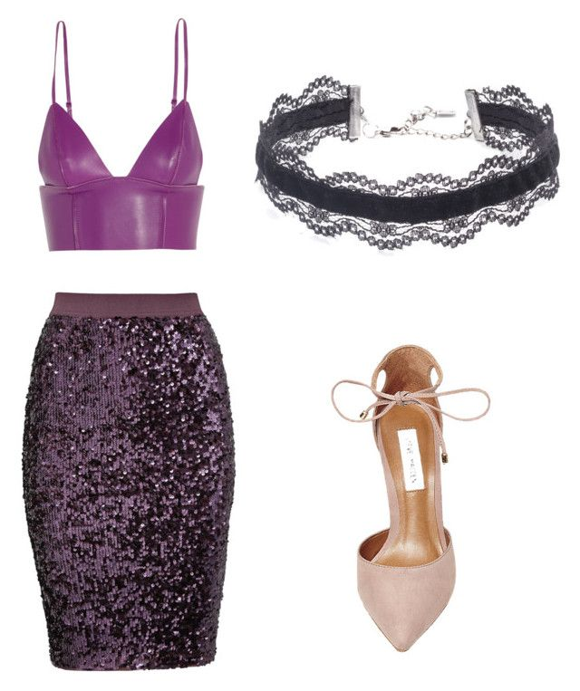 """Purple rain"" by eb112 on Polyvore featuring T By Alexander Wang, By Malene Birger, Steve Madden and DANNIJO"