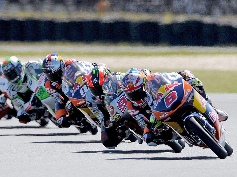 Australian Moto3 rider Jack Miller of Red Bull KTM leads