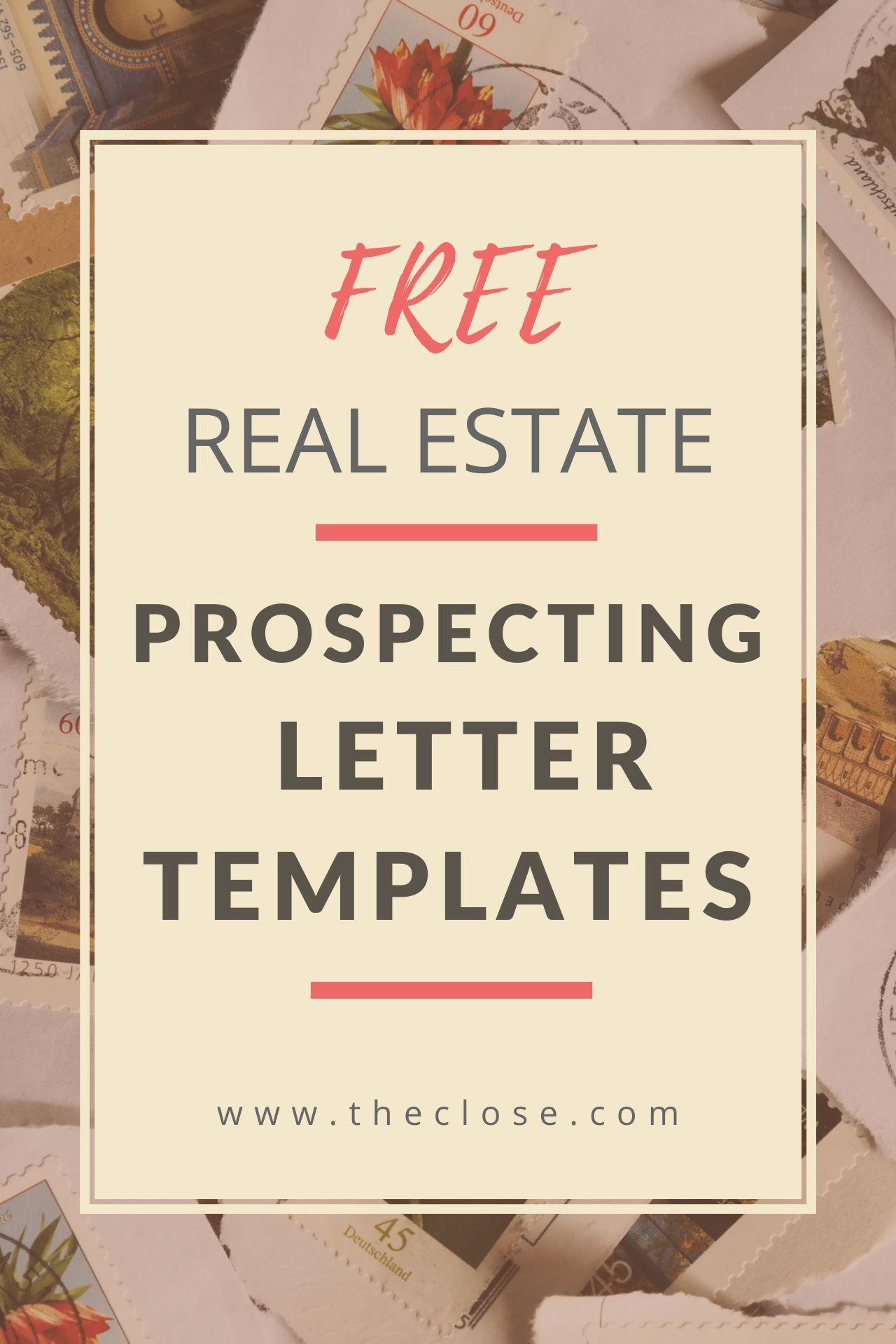 15 Best Real Estate Prospecting Letter Templates for 2020 ...