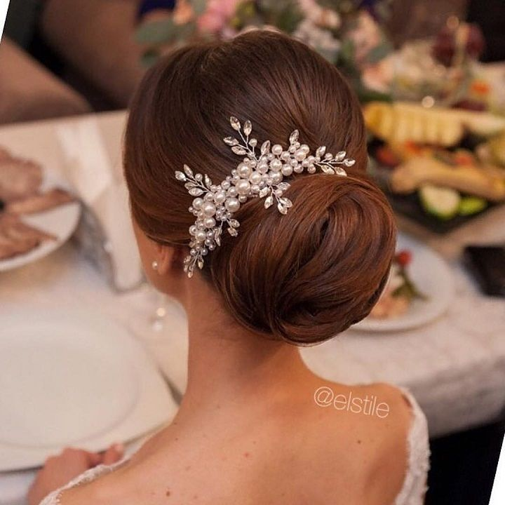 Beautiful bridal hairstyle #weddinghair #bridalhair #weddinghairstyles #bridalhairideas #weddinginspiration #chignon