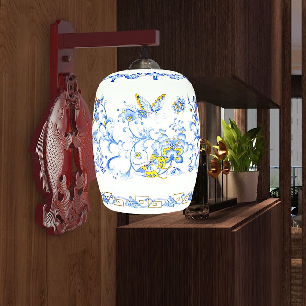 Chinese Style Rustic Wall Sconces LED E27 AC 90-260V ... on Decorative Wall Sconces Candle Holders Chrome Nickel id=46749