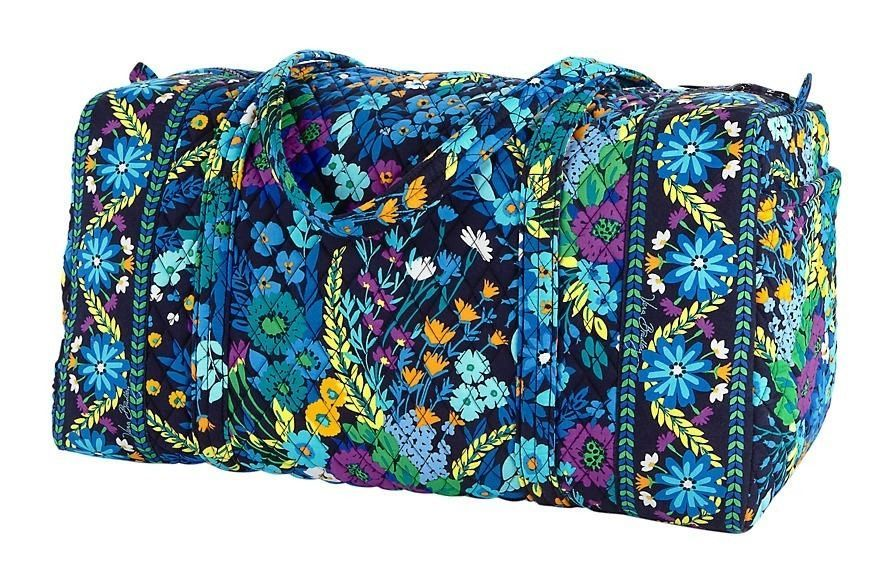 0354c8685f0e Vera Bradley LARGE DUFFEL Bag ~ MIDNIGHT BLUES Pattern ~ New NWT   VeraBradley  ShoulderBag