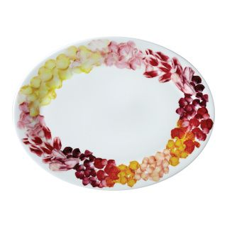"""This generously sized platter allows you to bring appetizer, entree, or dessert to the table in stylish way. The colorful petals surrounding the food you serve will help to impress your guests. Every petal on this platter have been individually photographed and arranged. This serving platter will also be a perfect gift for house warming parties, newly married couples, or, of course, your loved ones.  Boxed one Bone China W. 14""""  Dishwasher & microwave-safe Imported"""