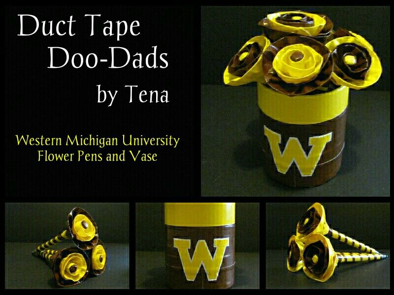 Duct Tape Western Michigan University Flower Pens And Vase Httpsm