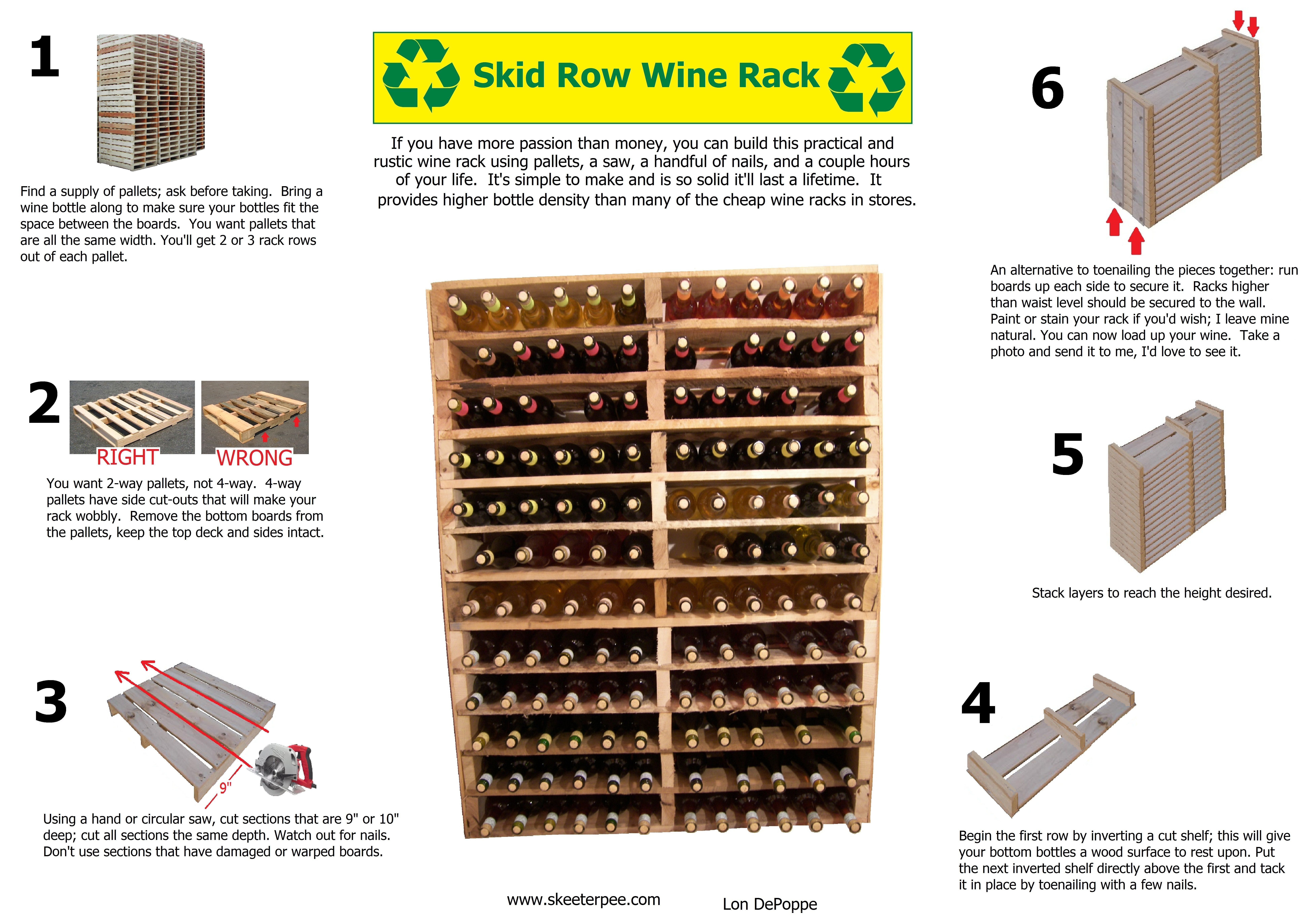 Making A Wine Rack Out Of Pallets Homemade Wine Rack Wine Rack Plans Pallet Wine Rack