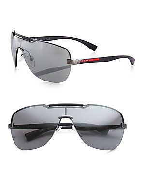 Prada Metal Shield Sunglasses http://www.saksfifthavenue.com/main/ProductDetail.jsp?FOLDER%3C%3Efolder_id=2534374306612000%3C%3Eprd_id=845524446601746=646319011360_name=Prada=1579+1686+4294932669+306612000=jWOtntV