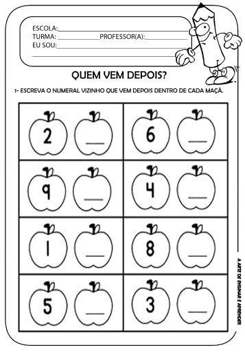 Seq Numerica Atividades Matematica Educacao Infantil Atividades