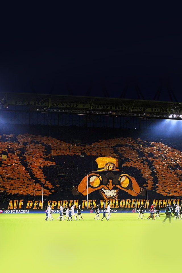 Freeios7 Borussia Dortmund Fan Freeios7 Com Borussia Dortmund Muralha Amarela Futebol Europeu