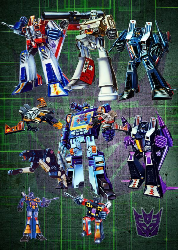 Transformers G1 Decepticons Displate Posters