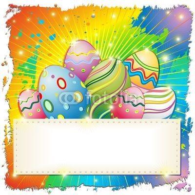 Easter Eggs Grunge Background-Vector © bluedarkat