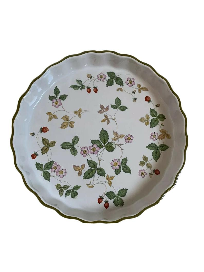 wedgwood quiche dish oven to table china wild strawberry