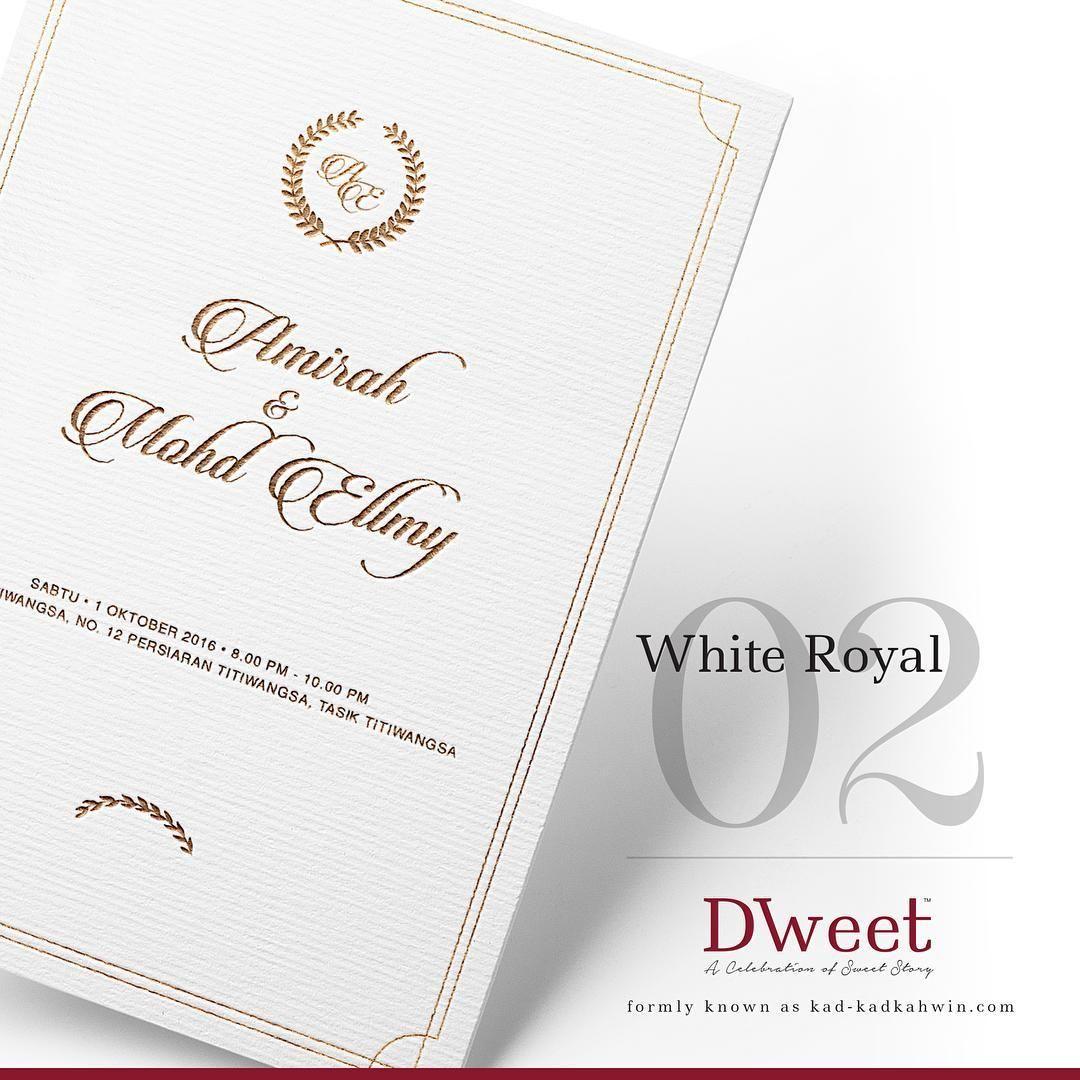 White Royal 02 New Collection White Royal Khas Untuk Mereka Yang Menyukai Design Simple Tet Invitations White Kad Kahwin Place Card Holders