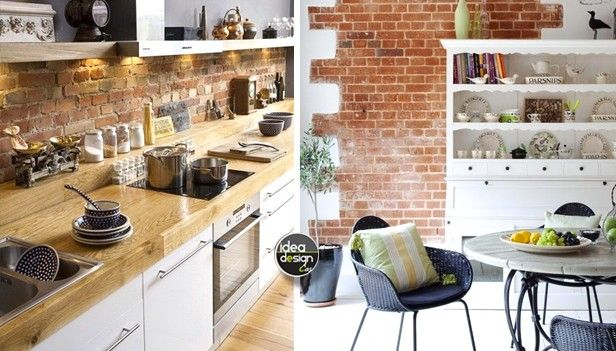 Parete mattoni a vista cucina 69 cucine con pareti di mattoni idee cucina kitchen home - Arte sole cucine ...