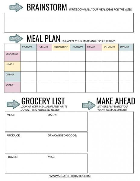 Meal Planning Templates Landing Page -LP