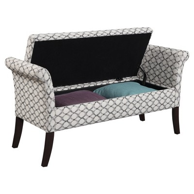 Remarkable Designs4Comfort Garbo Storage Bench Ribbon Pattern Fabric Andrewgaddart Wooden Chair Designs For Living Room Andrewgaddartcom