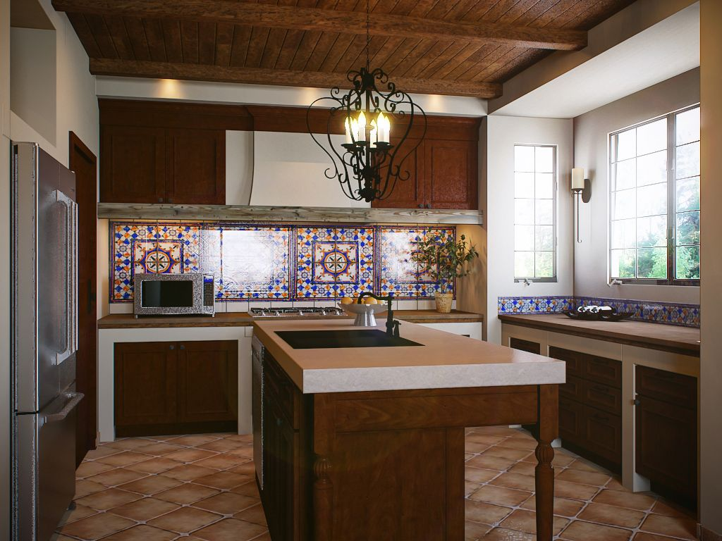 Spanish Colonial Kitchen - Design Boards - Kitchens.com | Santa Fe ...