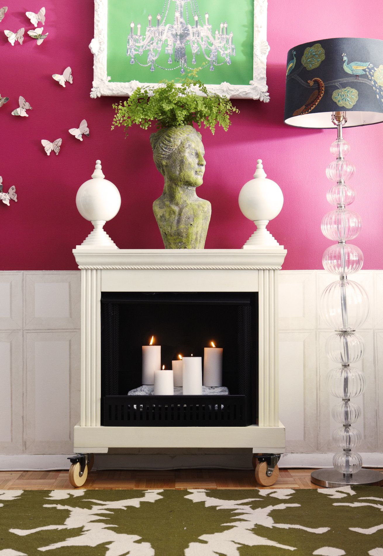 Fireplace on wheels for style on the go! | Nutshell Posh and ...
