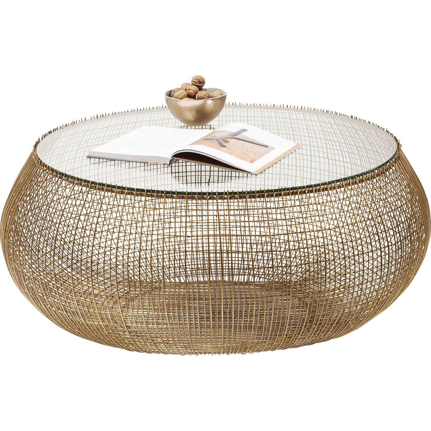 Couchtisch Cesta Gold Kare Online Gmbh Couchtisch Wohnzimmertische Couchtisch Design